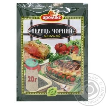 Приправа Аромикс Перец черный молотый 20г - купить, цены на МегаМаркет - фото 1