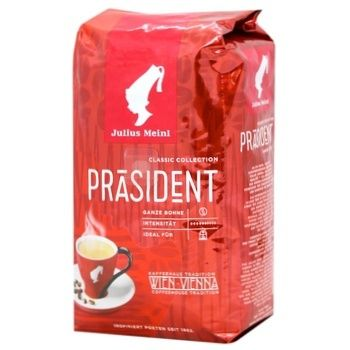 Natural roasted coffee beans Julius Meinl Prasident 500g Austria - buy, prices for MegaMarket - image 1