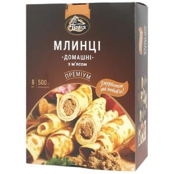 Млинці Полісся Домашні з мясом 500г - купити, ціни на CітіМаркет - фото 1