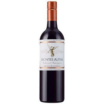 Вино Montes Alpha Cabernet Sauvignon червоне сухе 15% 0,75л - купити, ціни на CітіМаркет - фото 1