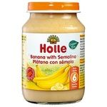 Puree Holle banana for children from 6 months 190g glass jar