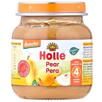 Пюре Holle груша 100% с 4 месяцев 125г