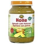 Puree Holle with spinach for children from 4 months 190g glass jar
