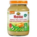Puree Holle zucchini with peas for children from 6 months 190g glass jar