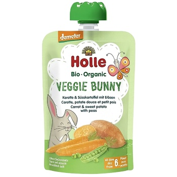 Holle Veggie Bunny Carrots Sweet Potatoes Peas from 6 Months Puree 100g - buy, prices for CityMarket - photo 1