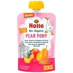 Пюре Holle Pear Pony груш,персик,малин,спельт.з 8міс.д/п 100г
