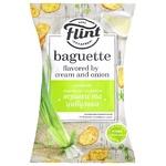 Сухарики Flint пшеничные сливки и лук 60г