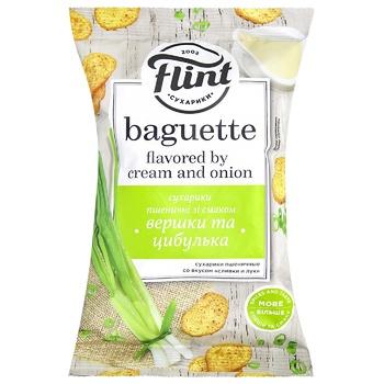 Сухарики Flint пшеничные сливки и лук 60г - купить, цены на Восторг - фото 1