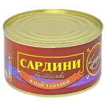 Fish sardines baltic Columb №5 in oil 240g can