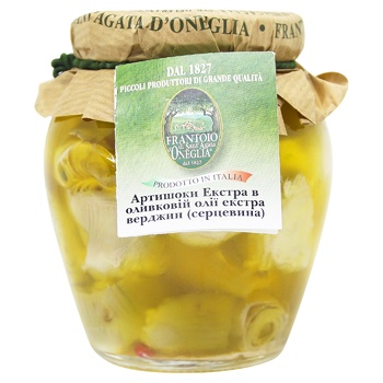 Артишоки Frantoio di Sant'agata Екстра в олив.олії скл 290г - купити, ціни на CітіМаркет - фото 1
