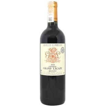 Вино Chateau Grand Lacaze червоне сухе 12% 0,75л - купити, ціни на CітіМаркет - фото 1