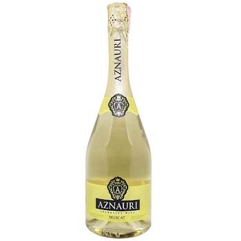 Вино игристое Aznauri Мускатное белое полусладкое 13,5% 0,75л