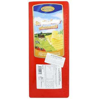 Сыр Wloszczowa Маздамер твердый 45% - купить, цены на СитиМаркет - фото 1