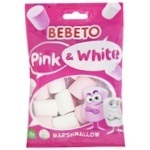 Цукерки Bebeto Білий та Рожевий маршмелоу 30г
