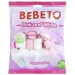 Цукерки Bebeto Білий та Рожевий маршмелоу 135г