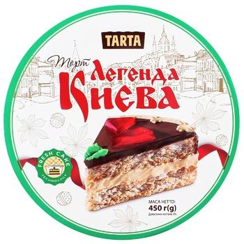 Торт Tarta Легенда Києва повітряно-арахісовий 450г - купить, цены на Восторг - фото 1