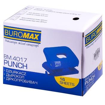 Дирокол Buromax пласт.чорн.120x82x53 мм до 16л 1шт - купити, ціни на CітіМаркет - фото 1