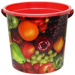 Plastic Bucket with Picture 12l