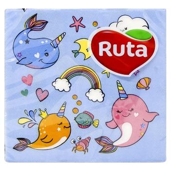 Napkins Ruta paper for serving 20pcs 33x33cm Ukraine - buy, prices for CityMarket - photo 1