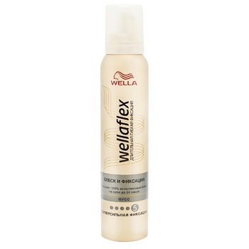 Wellaflex Foam for styling hair Glitter & Fixation superpower 200ml - buy, prices for EKO Market - photo 1
