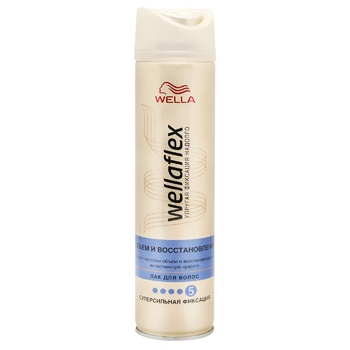 WELLAFLEX VOLUME AND RECOVERY Hairspray Super strong fixation 250ml - buy, prices for MegaMarket - photo 1