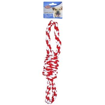 Іграшка Trixie д/собак канат з 2 петлями поліест.38см - купить, цены на СитиМаркет - фото 1
