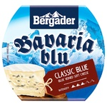 Bavaria Blue Bergader Soft Cheese with Blue And White Mold 50% 150g