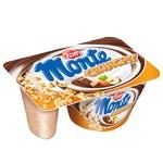 Десерт молочний Zott Monte Crunchy з шоколадом та лісовими горіхами+хрустка суміш 13,3% 125г