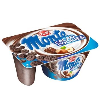 Zott Monte Cookies Milk Dessert with Chocolate, Hazelnuts and Biscuits 13,1% 125g - buy, prices for CityMarket - photo 1