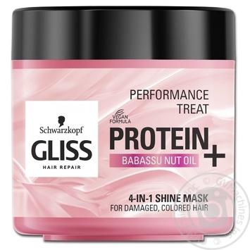 Маска Gliss Kur Performance Treat Блиск для пошкодженого фарбованого волосся 4в1 400мл - купити, ціни на Novus - фото 1