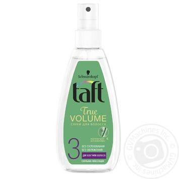 Спрей-жидкость Taft Объем для укладки волос фиксация 3 150мл - купить, цены на Восторг - фото 1