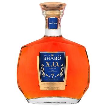Бренди Shabo Х.О. 7 звезд 40% 0,5л