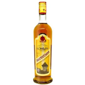 Tisa Zakarpatskyi 4 Stars Cognac 40% 0,5l - buy, prices for CityMarket - photo 1