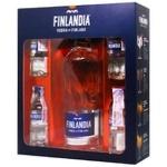 Водка Finlandia 40% 0,5л и 4 вкусовые миниатюры
