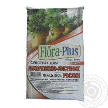 Субстрат Flora-Plus для декоративно-лиственных растений 20л - купить, цены на Ашан - фото 1