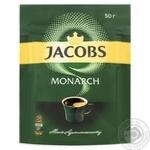Кофе Jacobs Monarch растворимый 50г - купить, цены на Ашан - фото 1