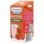 Коктейль молочный Яготинське Клубника ультрапастеризованный 2,5% 200г