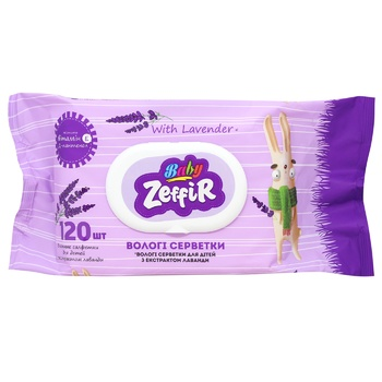 Zeffir Wet Wipes with Lavender Extract 120pcs - buy, prices for MegaMarket - photo 1