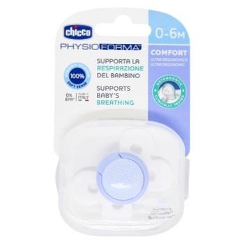 Пустушка Chicco Physio Comfort силік.0-6м блак.1шт - купити, ціни на CітіМаркет - фото 1