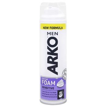 Піна Arko для чутливої шкіри для гоління 200мл - купити, ціни на CітіМаркет - фото 1