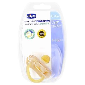 Пустушка Chicco Physio Soft латекс.0-6м.1шт - купити, ціни на CітіМаркет - фото 1