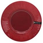 Тарелка Ambition Dajar керамическая подставная вишневая 22.5см