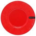 Тарелка Ambition Dajar керамика красная 22,5см