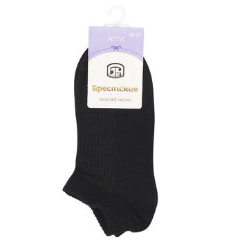Brestskie Active Women's Black Socks 23s - buy, prices for CityMarket - photo 1