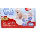 Bambik Jumbo Midi 3 Baby Diapers 4-9kg 45pcs