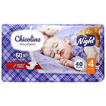 Chicolino Night 4 Baby Diapers 7-14kg 40pcs - buy, prices for CityMarket - photo 1