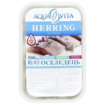 Aqua Vita Light-salted Herring Fillet 500g - buy, prices for CityMarket - photo 2