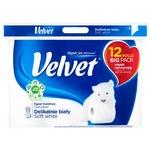 Папір Velvet Делікатний біл.туалет.3 шар.12 рулонів
