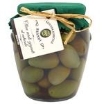 Оливки Brandi Гігантські зелені в розс.калібр 26мм скл 280г