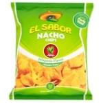El Sabor Nacho Chips with Jalapeno Pepper Flavor 225g